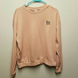 "H&M Baby Pink ""Lovers Unite"" Sweatshirt"